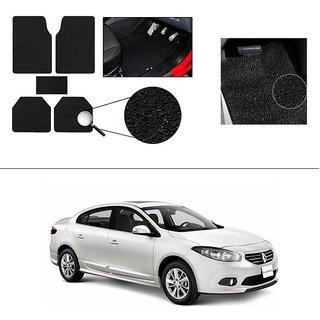 AutoStark Anti Slip Noodle Car Floor Mats Set of 5-Black For Renault Fluence