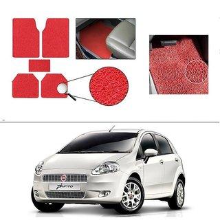 AutoStark Anti Slip Noodle Car Floor Mats Set of 5-Red For Fiat Punto
