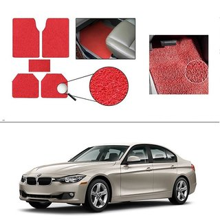 AutoStark Anti Slip Noodle Car Floor Mats Set of 5-Red For BMW 3-Series