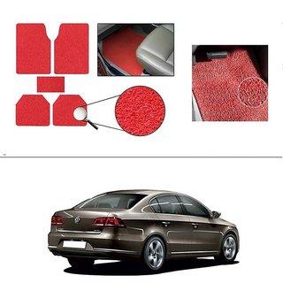 AutoStark Anti Slip Noodle Car Floor Mats Set of 5-Red For Volkswagen Passat 2010