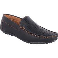 ShoeAdda Men's Black Slip On Loafers