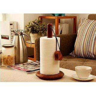 Onlineshoppee Wood Tissue Holder/Table Decoration Tissue Pumping Napkin Holder Size(LxBxH-17x17x32)Cm