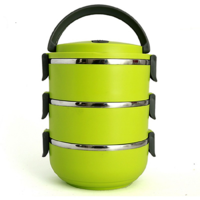 3 LAYER STAINLESS STEEL LUNCH BOX Set of 1