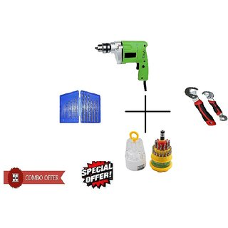 Special Combo Offer Shopper52 Drill Machine With 13Pcs Drill Bit Set , Snap N Grip and 31 pcs toolkit