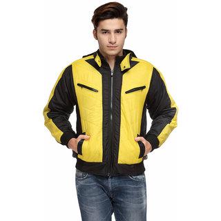 TSX Men's Black Bomber Full Sleeve Jacket