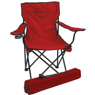 Kawachi Folding Camping Chair Portable Fishing Beach Outdoor Collapsible Chairs - K52-Red