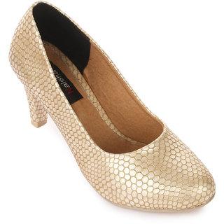 Naisha Women Gold Heels