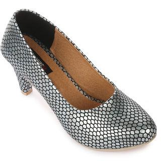 Naisha Women Silver Heels