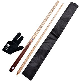 JBB combo 9 (glove cue cover and snooker n billiards cue)