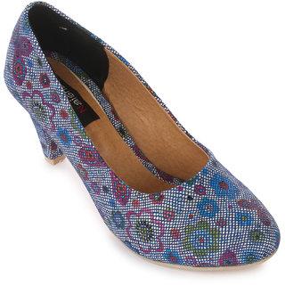 Naisha Women Blue Heels