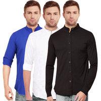 Balino London Chinese Collar Shirts For Men (Pack of 3)