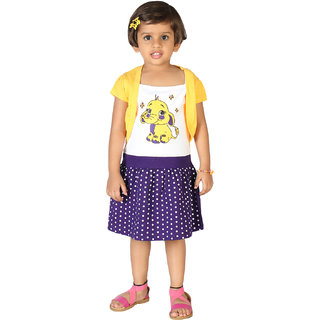 Lil Orchids Girls Printed Casual Dress
