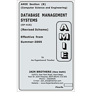AMIE - Section (B) Database Management Systems (CP-415) Computer Science and Engineering Solved and Unsolved Paper