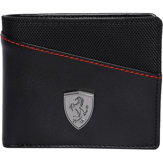 Puma Men Black Genuine Leather Wallet