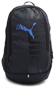 Puma Black And Blue Polyester Casual Backpacks