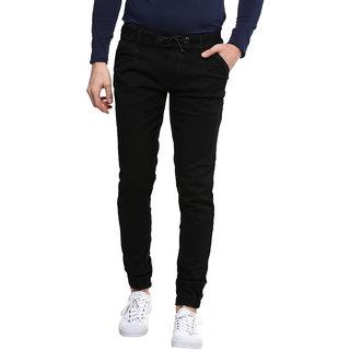 Urbano Fashion Men'sBlack Slim Fit Joggers