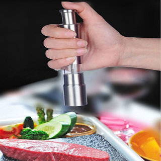 Evershine Stainless Steel Thumb Push Salt Pepper Spice Sauce Grinder Mill Muller Stick