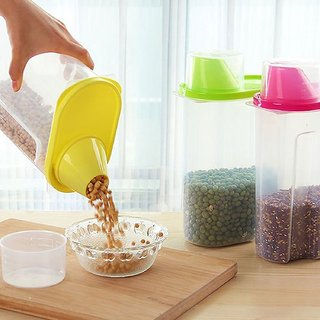 Buy Plastic Kitchen Food Cereal Storage Dispenser Rice Container Box