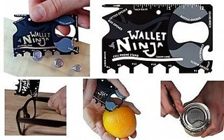 Right Traders Multipurpose 18 in 1 Wallet Ninja for Pocket Multi utility Knife  Black  pack of 1
