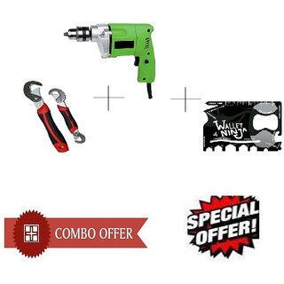 Special Combo Offer Shopper52 Drill Machine With Ninja toolkit and Snap N Grip