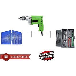 Special Combo Offer Shopper52 Drill Machine With 13Pcs Drill Bit Set and 25 pcs Hobby toolkit