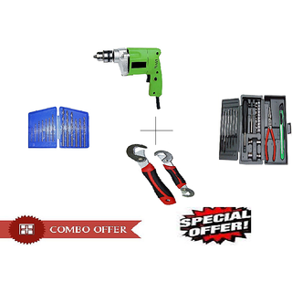 Special Combo Offer Shopper52 Drill Machine With 13Pcs Drill Bit Set , 25 pcs Hobby toolkit and Snap N grip