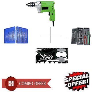 Special Combo Offer Shopper52 Drill Machine With 13Pcs Drill Bit Set , Ninja toolkit and 25 pcs Hobby toolkit