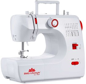 BMS Lifestyle SewMagic 16 Built-in-Stitch Multi-Function Portable Electric Sewing Machine (White)