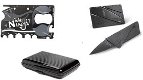 Right Treders Combo of Credit Card Holder And Credit Card Knife Multi Utility Knifes ( pack of 3 )