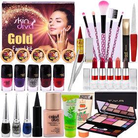 A Complete Set Of Make up Combo With Color Diva Skin Diva Facial Kit 80g