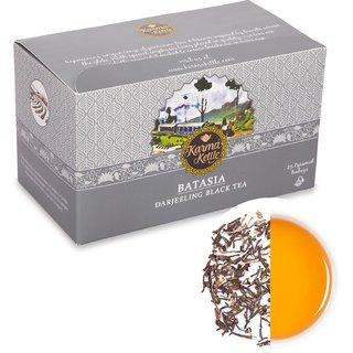 Karma Kettle Batasia-Darjeeling Black Tea 25 Pyramid Teabags. Second flush Darjeeling Black tea.
