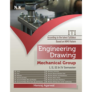 ITI Engineering Drawing Mechanical Group I-IV Sem. by Hemraj Agarwal ENGLISH 9789385984617