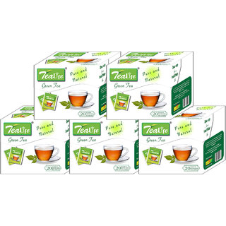 5 Boxes Of Tealyfe Green Tea - 100 Tea Bags