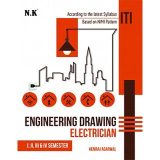 Buy Iti Engineering Drawing Electrician By Hemraj Agarwal Sem 1 4