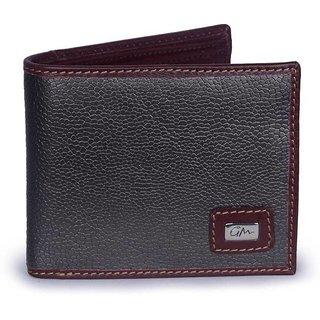 Gentleman Men Stell Grey Genuine Leather Wallet (8 Card Slots)