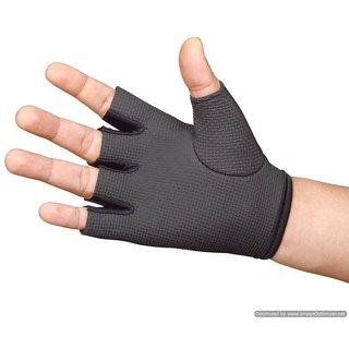 CP Bigbasket Palm Weight Lifting Gym  Fitness Gloves (Free Size, Black)