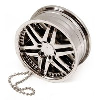 Alloy Wheel Silver Hanging Gel Car Perfume For Car, Hom