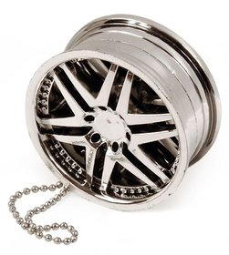 Alloy Wheel Silver Hanging Gel Car Perfume For Car, Home, Office Air Freshener