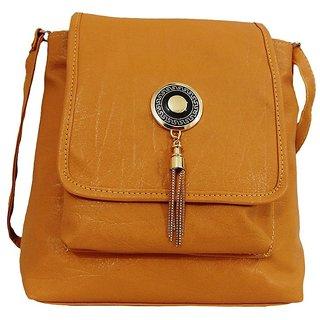 Bagizaa Brown PU Casual Womens And Girls Sling Bag