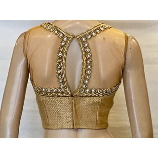 5d263020d09 Buy Intrigue Golden Silk Stitched Blouse Online - Get 14% Off