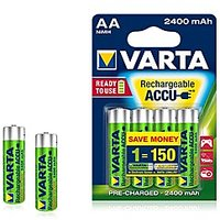 VARTA Power Accue 4 AA Size Ni-Mh 2400 MAh Rechargeable Batteries