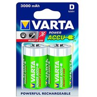 VARTA Power Accue 2 D Size Ni-mAh Ready To Use Battery