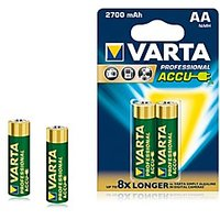 VARTA Professional Accue 2 AA Size Ni-MH 2700 MAh Rechargeable Batteries