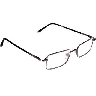 nr 004 full rim black square shape 100 stainless steel frame metal