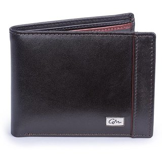 Gentleman Men Brown Genuine Leather Wallet (7 Card Slots)