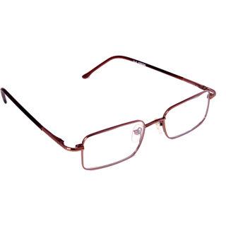 nr 004 full rim brown square shape 100 stainless steel frame metal