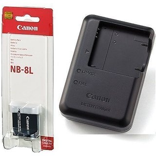 Canon NB-8L Lithium-Ion Battery + Canon CB-2la Cb-2lae Charger