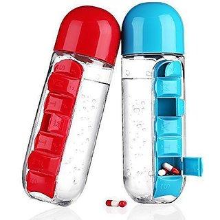 Pill Vitamin Organizer Water Bottle For Sports Men Women And Kid's CodeMp-5079
