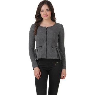 Texco Winter Charcol Grey Peplum Jacket