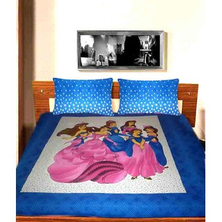 QUEEN STYLE COTTON DOUBLE BEDSHEET WITH PILLOW COVERS ( MC0144 )